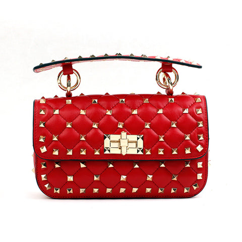 WOO LOO FASHION-VALI Stud Crossbody | RED
