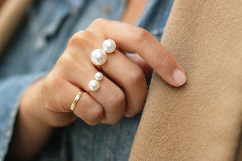 WOO LOO FASHION-Elegant Pearl Rings