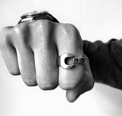 WOO LOO FASHION-Wrench Ring (Gold/Silver/Black)