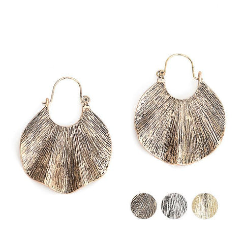 WOO LOO FASHION-Antique Silver Dangle Earrings