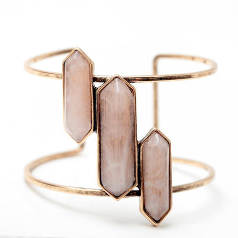WOO LOO FASHION-Bohemian  Natural Stone Bangles