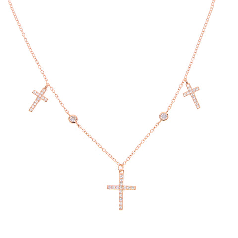 WOO LOO FASHION-Cross Pendant Necklace(Sterling Silver)