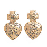 WOO LOO FASHION-Vintage Heart  Earring