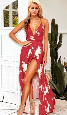 WOO LOO FASHION-Lizzie Split Maxi Dress