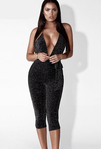 WOO LOO FASHION-Backless Bandage Jumpsuit