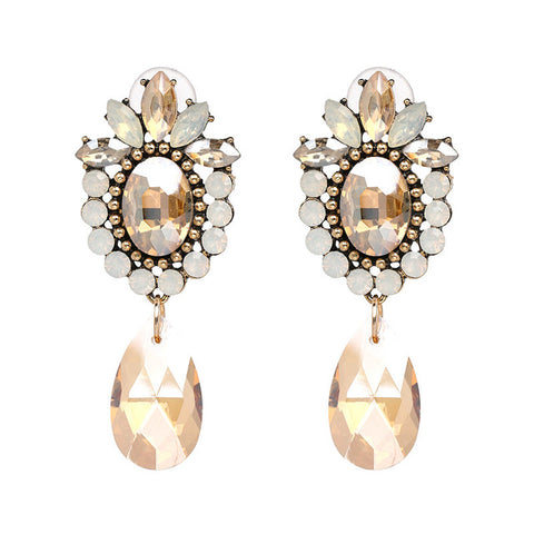 Larsh Crystal Drop Earrings