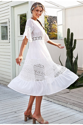 WOO LOO FASHION-Lace Summer Dress