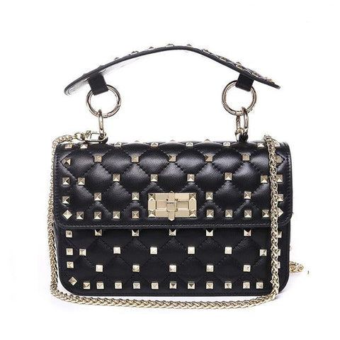 WOO LOO FASHION-VALI Stud Crossbody | Black