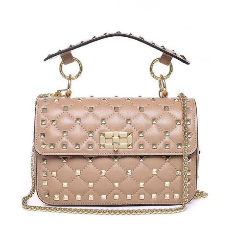 WOO LOO FASHION-VALI Stud Crossbody | Beige