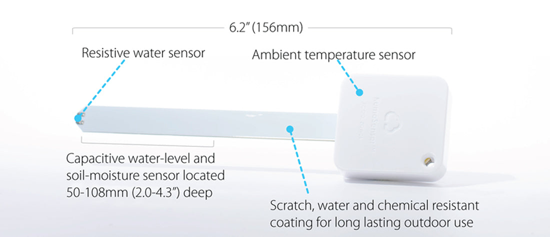 Water/Soil Moisture Sensor Specs - Wireless Tag