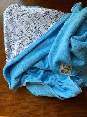 Blue Terry Baby Towel