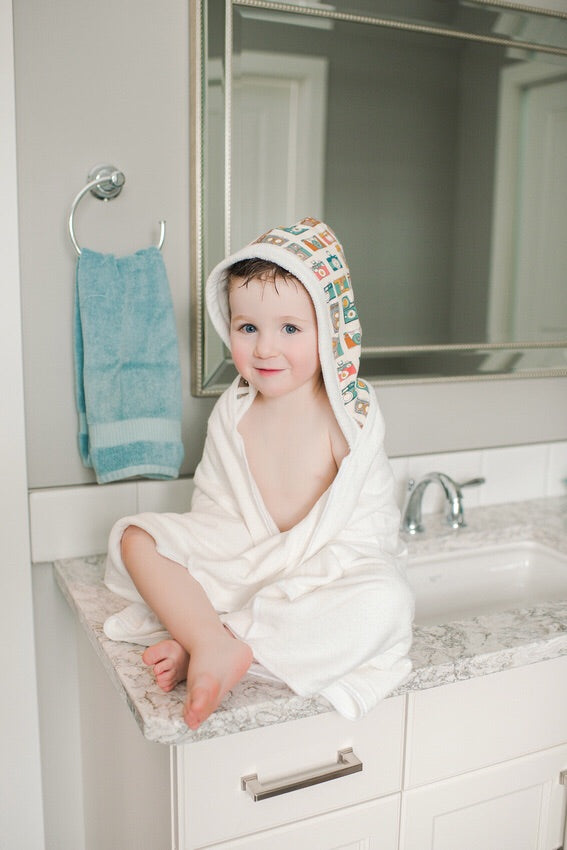 Blue Terry Toddler Towel
