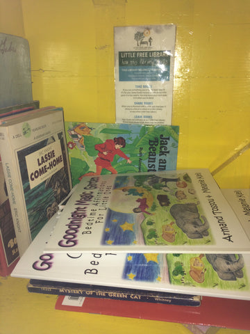 goodnight magic garden books donated to little free library