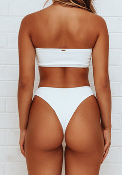 Charmaine bottom / white ribbed
