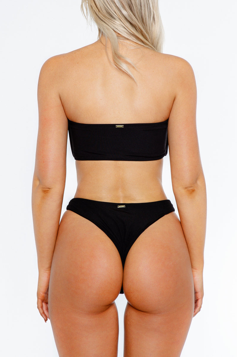 Charmaine bottom / black ribbed