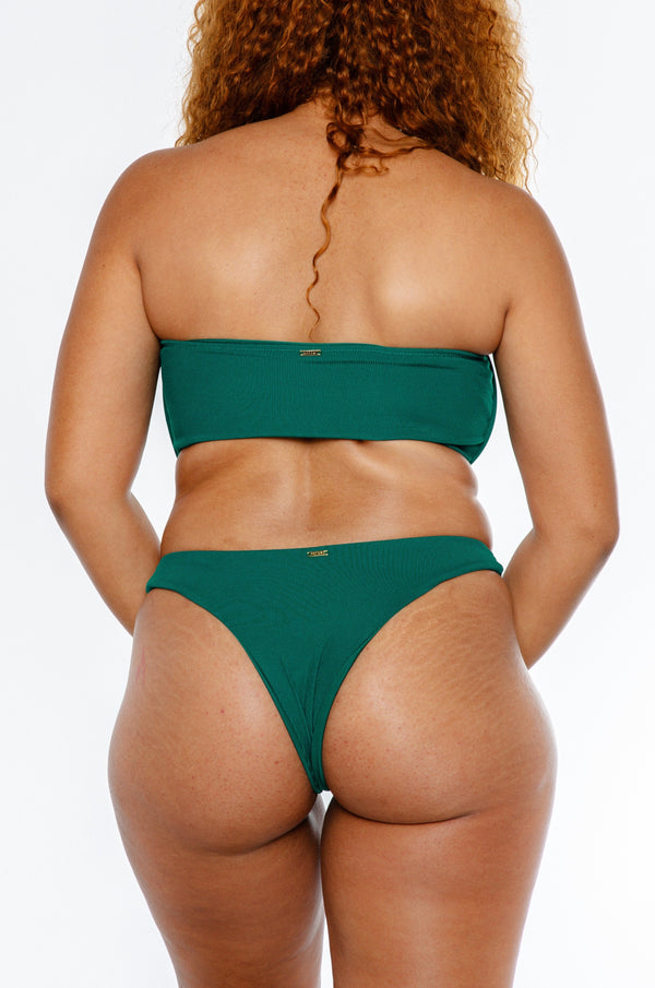 Charmaine bottom / forest green ribbed