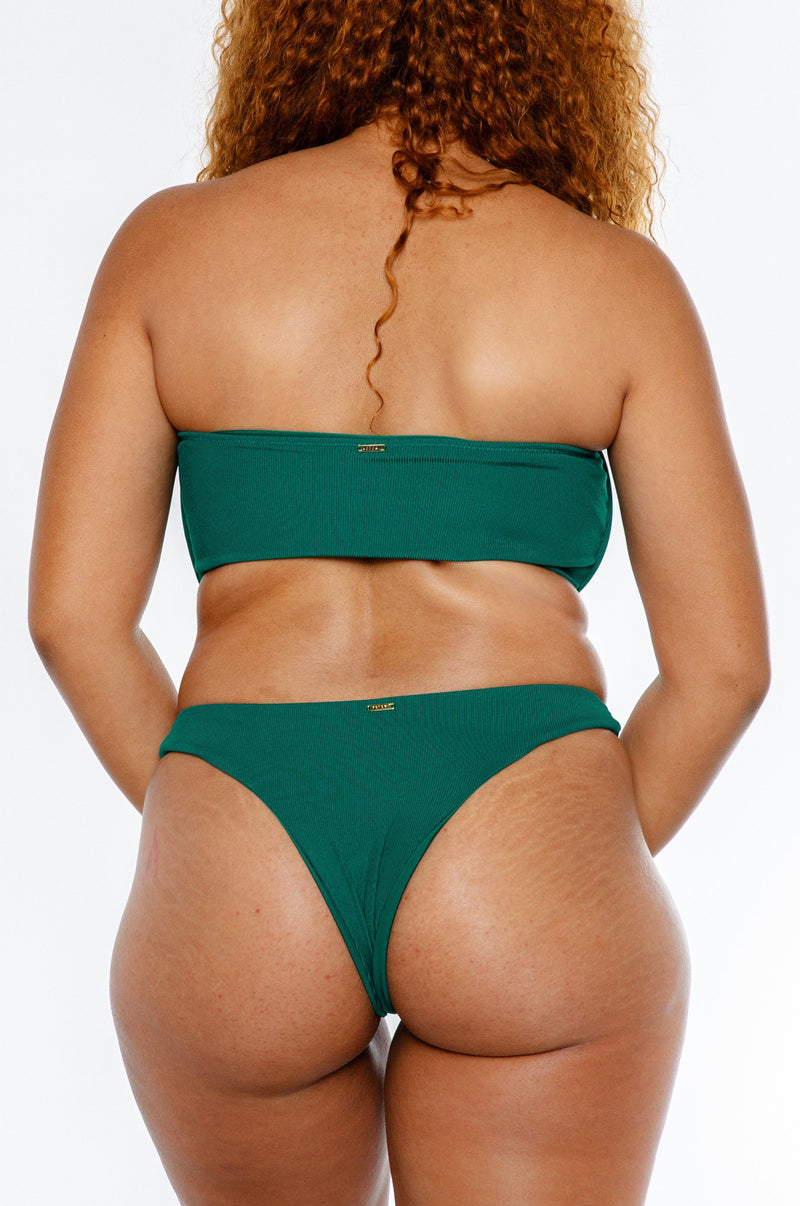 CHARMAINE TOP / forest green ribbed