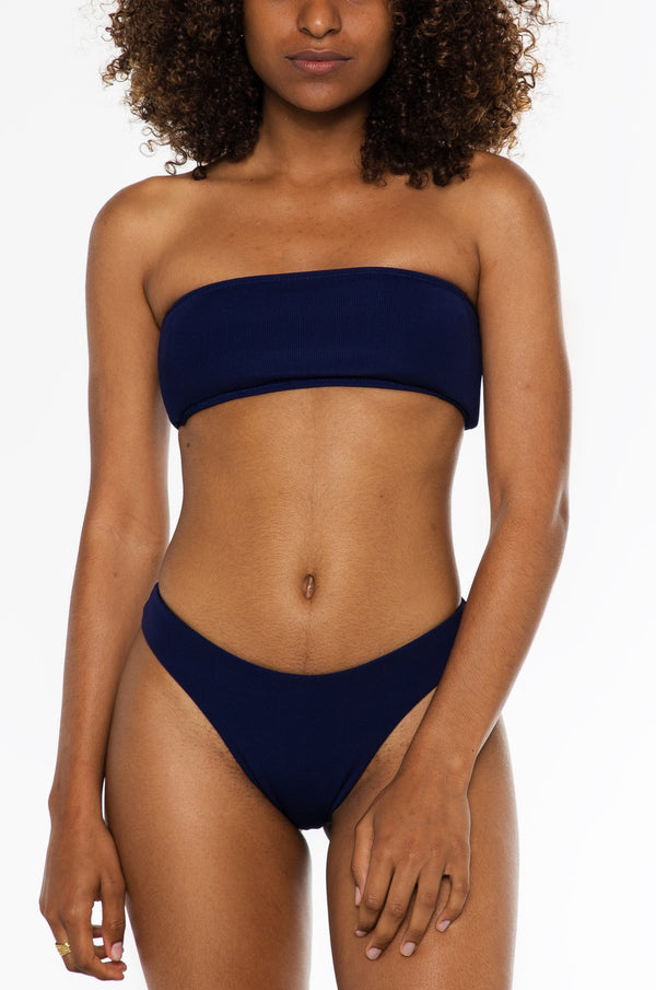CHARMAINE TOP / navy ribbed