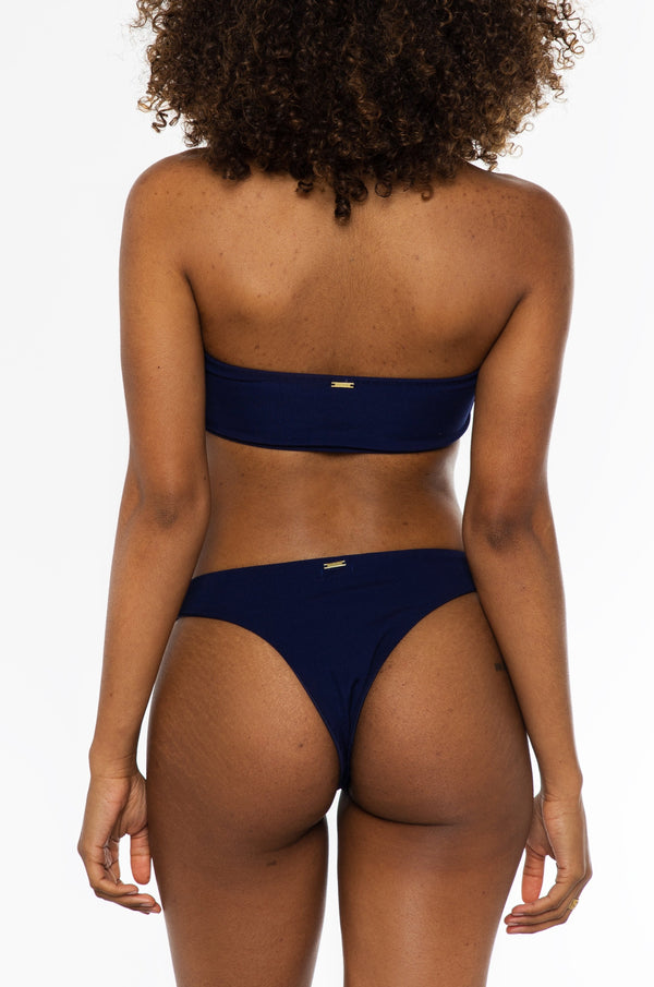 Charmaine bottom / navy ribbed