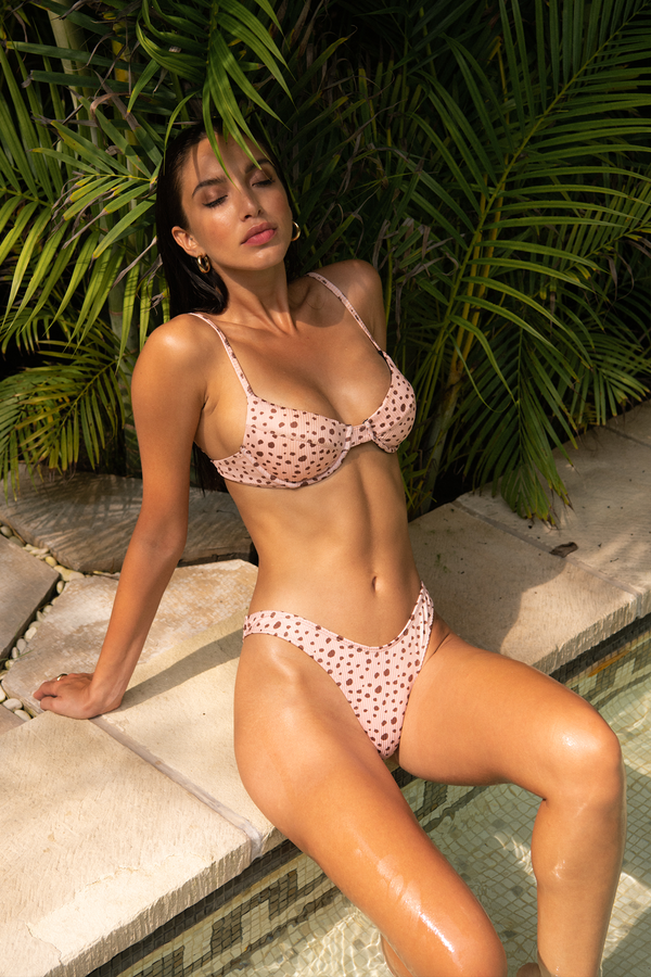 JASMINE TOP / PINK CHEETAH RIBBED