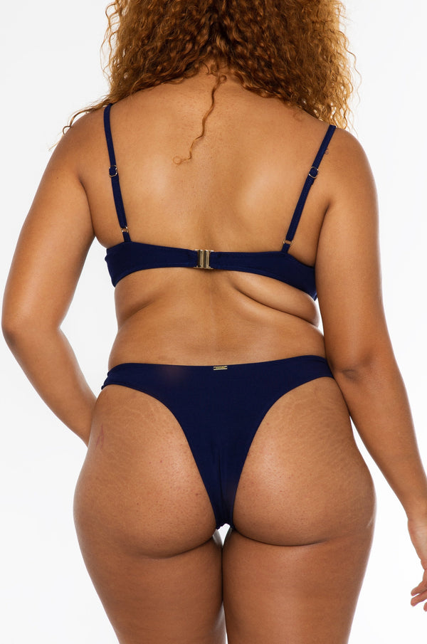 JASMINE BOTTOM / navy ribbed