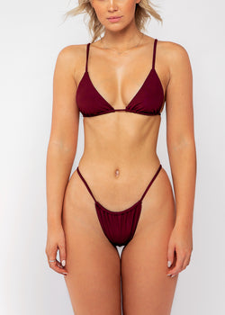 Tamson top / wine ribbed