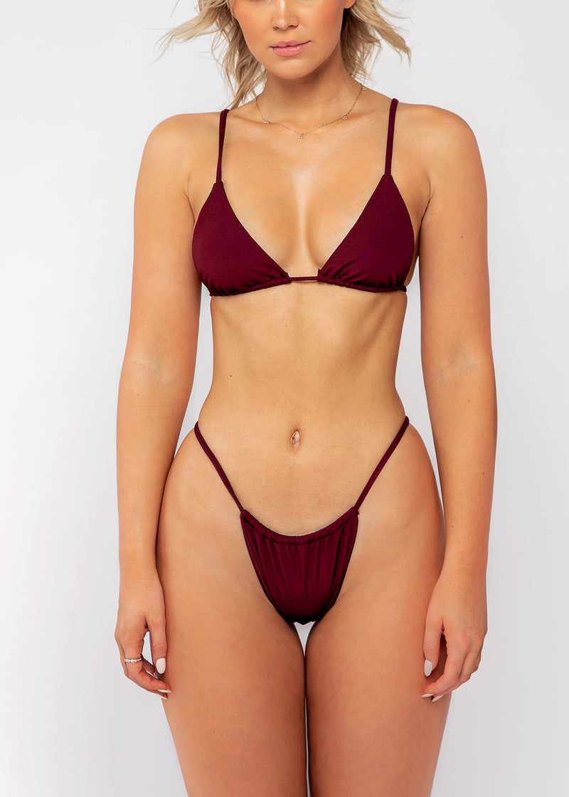 Tamson bottom / wine ribbed