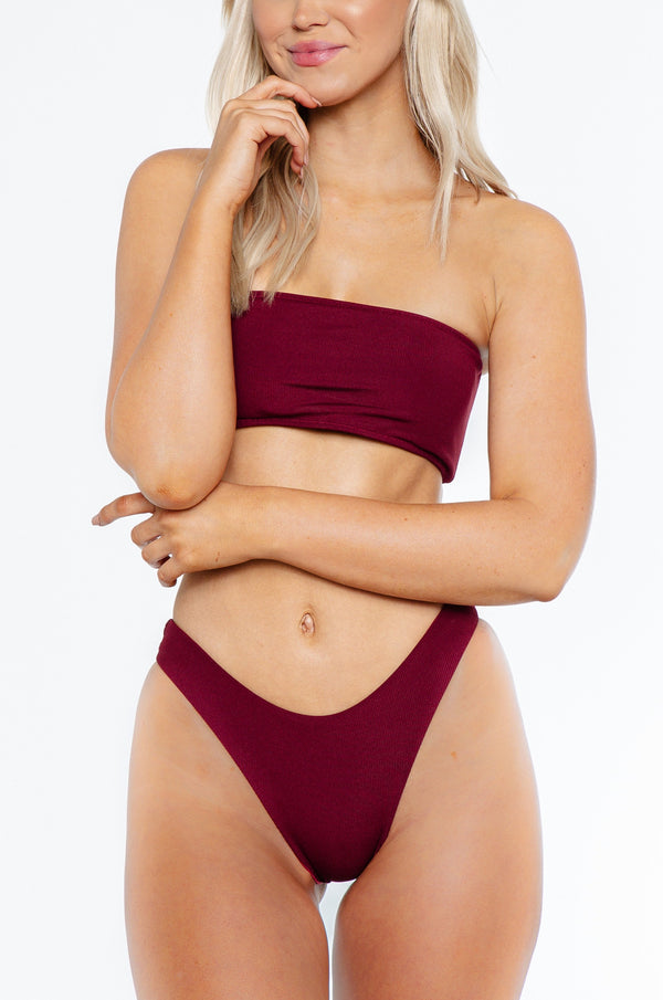 Charmaine bottom / wine ribbed