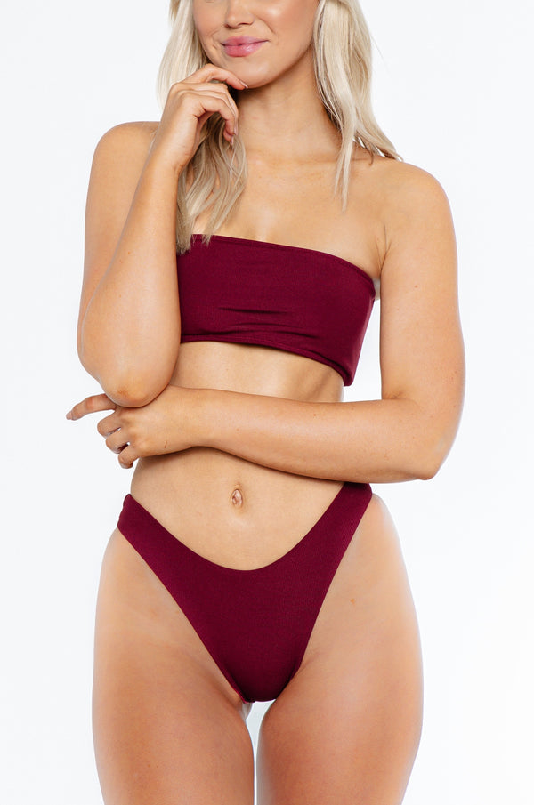 CHARMAINE TOP / wine ribbed