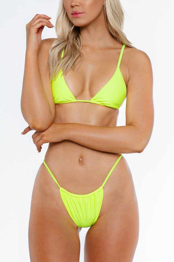 Tamson top / neon yellow