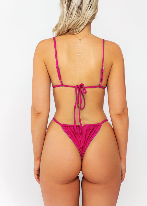 Tamson bottom / fuchsia ribbed