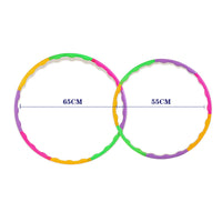 1 pcs Adjustable 65cm 55cm fitness hula hoop Colorful Gym Hula Hoop hula-hoop for children women