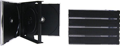 5 QUAD CD THICK / CHUBBY JEWEL CASES #CD4R24DG - Holds 4 CDs! 24mm Thick