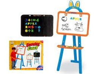 "37"" Two-Sided Standing Easel 3-in-1 Magnetic Writing Board for Kids"
