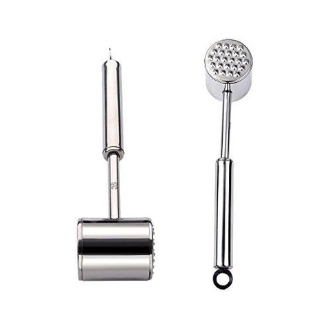 3S 201 Stainless Steel Large Heavy Duty Meat Tenderizer Mallet, Meat Tenderizer Hammer