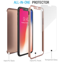 Celeir Hybrid Rose Gold iPhone X Case