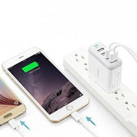 Anker 40W 4-Port USB Wall Charger with Foldable Plug, PowerPort 4 for iPhone X/8/7/6S/6S Plus, iPad Pro/Air 2/mini2, Samsung Galaxy/Note, LG, Nexus, HTC, and More