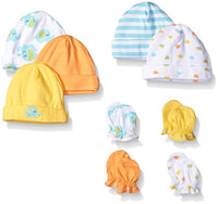 Gerber Infant Caps and Mittens Set Unisex