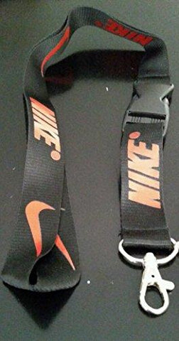 1 X Nike New Black /Red Lanyard Keychain Holder