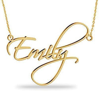 18K Gold Plated Name Necklace Personalized Sterling Silver Necklace Pendent Gifts Custom with Any Name