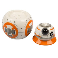 Star Wars The Last Jedi BB-8 Ceramic Salt and Pepper Shakers - Stackable 2 Piece Set