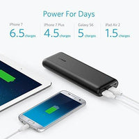 Anker 20100mAh Portable Charger PowerCore 20100 - Ultra High Capacity Power Bank with 4.8A Output, PowerIQ Technology for iPhone, iPad & Samsung Galaxy & More – Black