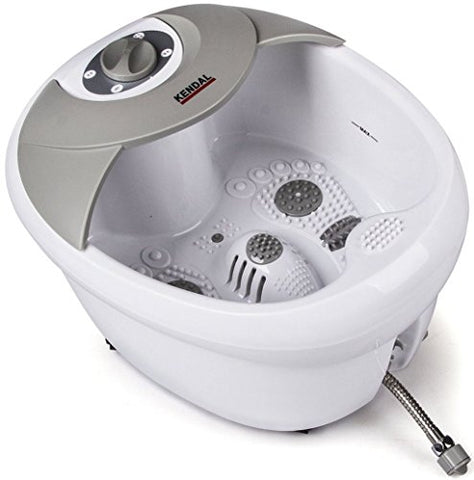 All in one foot spa bath massager w/heat, HF vibration, O2 bubbles, red light FB09