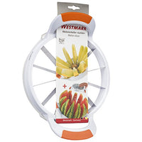 Westmark Germany Large Stainless Steel Slicer with Blade Protection, Slices Fruit, Melons, Watermelon, Pineapple, and More Simply Get 12 Perfect Slices