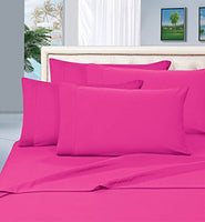 #1 Best Seller Luxury Pillowcases on Amazon! Highest Quality - Elegance Linen® 1500 Thread Count Egyptian Quality Luxury Silky Soft Wrinkle-Resistant 2-Piece Pillowcases, Standard Size -Pink
