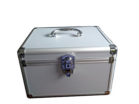 300 CD DVD Premium Aluminum Storage Carrying Case Silver with Hanging Sleeves