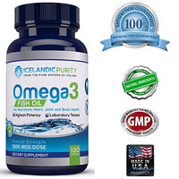 #1 Rated - QUADRUPLE STRENGTH Omega 3 Fish Oil Pills (90 Count Bottle) - From Pure ICELAND Waters - Best Quality on Amazon - 4 TIMES STRONGER Than Most...