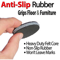 """SlipToGrip"" 8 Pack Furniture Grippers by iPrimio - Furniture Non-Slip Pads 2"" Round with 3/8"" Heavy Duty Felt Core. No Adhesive. No Nails. Won't Harm Floors."