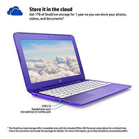 (Discontinued) HP Stream 11.6-Inch Laptop (Intel Celeron, 2 GB RAM, 32 GB SSD, Violet Purple) with Office 365 Personal for One Year