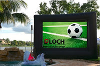 "!SUPREME AND FULLY EQUIPPED Loch IWS120-15 Foot Diagonal (View Area 120"" Diagonal Rear and Front 16:9) Inflatable Projection Screen - Outdoor Movies Cinema.Full Kit: Blower and stripes included."